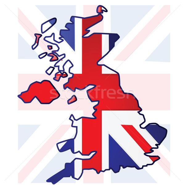 United Kingdom map Stock photo © bruno1998