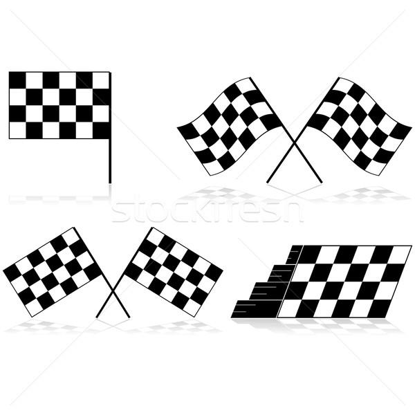 Checkered flags Stock photo © bruno1998