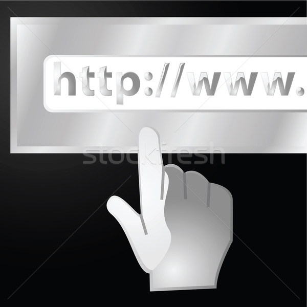 Web adres illustratie glanzend hand url Stockfoto © bruno1998