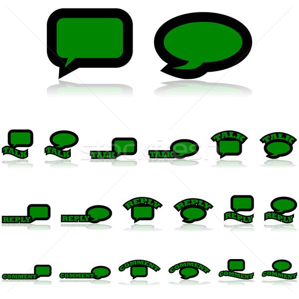 Dyskusja ikona cartoon Zdjęcia stock © bruno1998