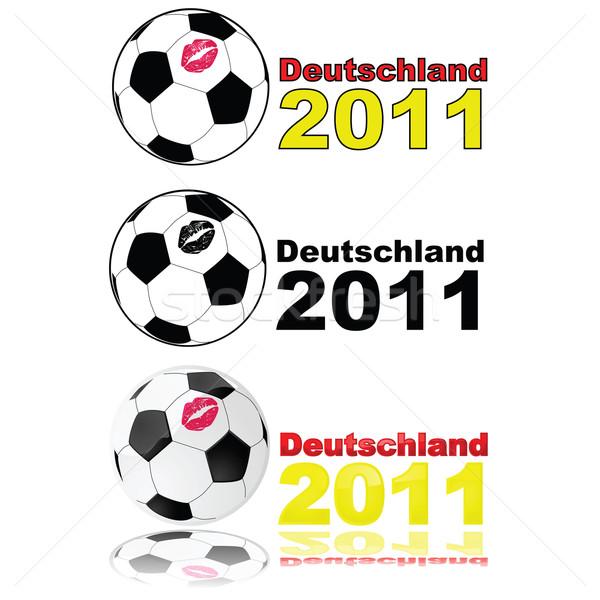 Piłka nożna Niemcy 2011 ilustracja piłka Zdjęcia stock © bruno1998
