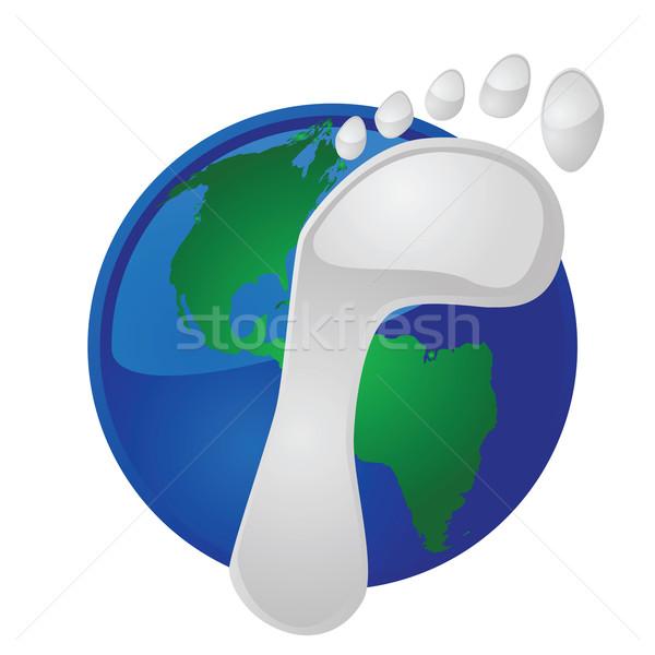 Global footprint Stock photo © bruno1998