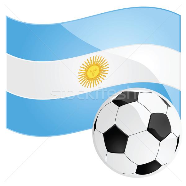Argentína futball illusztráció futballabda nap kék Stock fotó © bruno1998