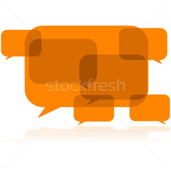 Rozmowy hałasu ilustracja dyskusja balony Zdjęcia stock © bruno1998