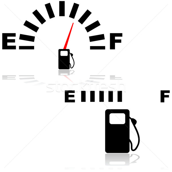 Fuel gauge vector illustration © Bruno Marsiaj (bruno1998