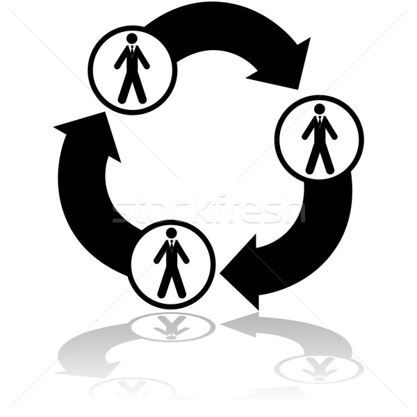 Business verbindung illustration netzwerk drei for Business netzwerk