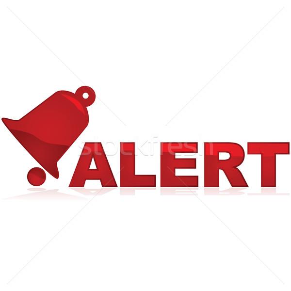 Alarm podpisania czerwony ikona Zdjęcia stock © bruno1998
