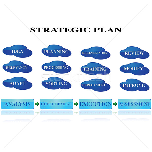 стратегический планирования иллюстрация различный шаги Сток-фото © bruno1998