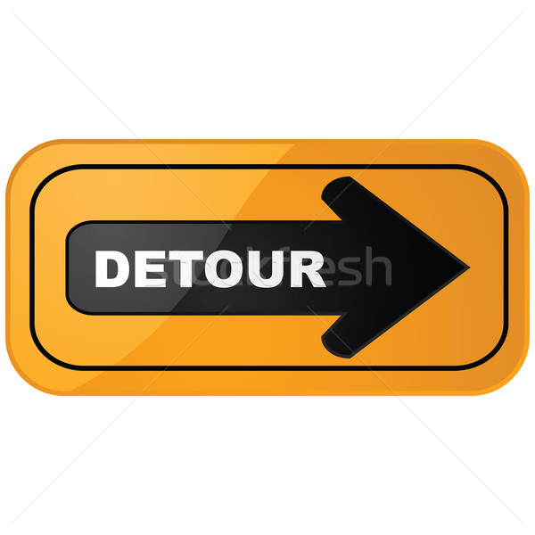 Detour sign Stock photo © bruno1998