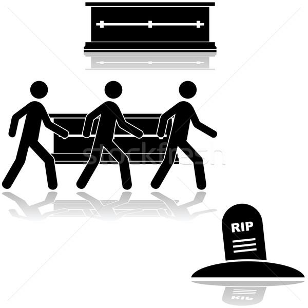 Begrafenis ceremonie tonen mensen Stockfoto © bruno1998