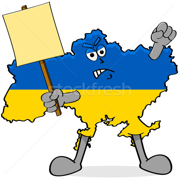 Ukraine protestation cartoon illustration colère Photo stock © bruno1998