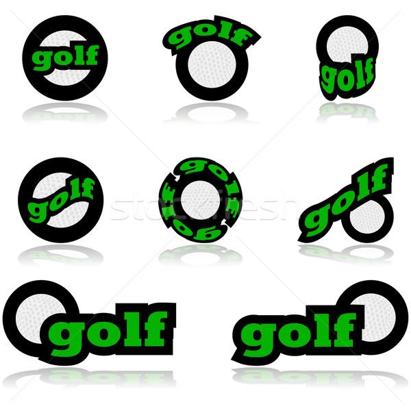 Golf icons Stock photo © bruno1998