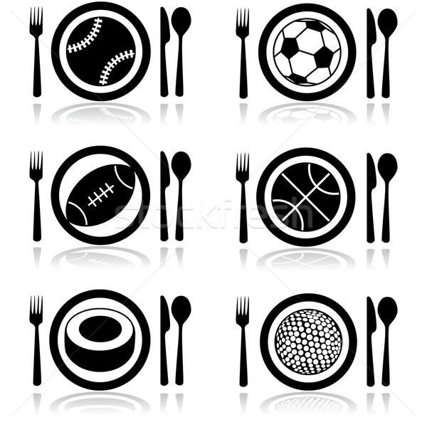 спортивных голод пластина приборы Сток-фото © bruno1998