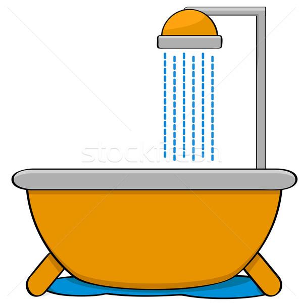ванна душу Cartoon иллюстрация Насадка для душа Сток-фото © bruno1998