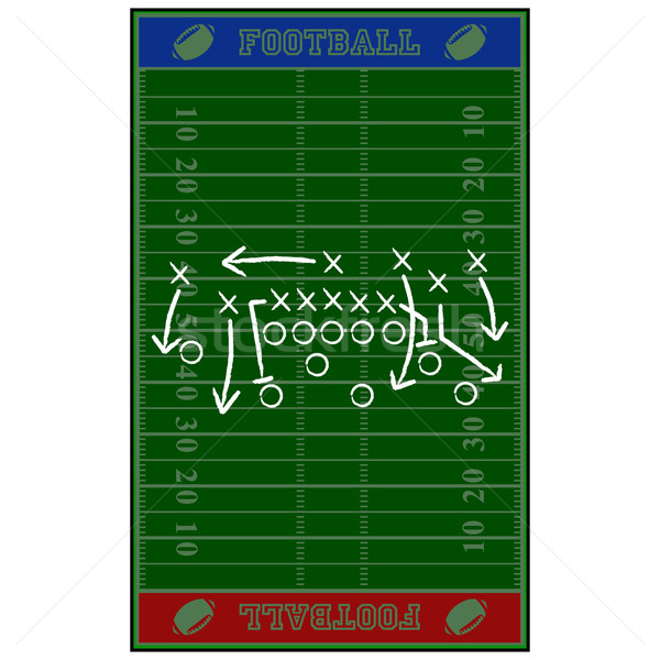 Football field gameplan Stock photo © bruno1998
