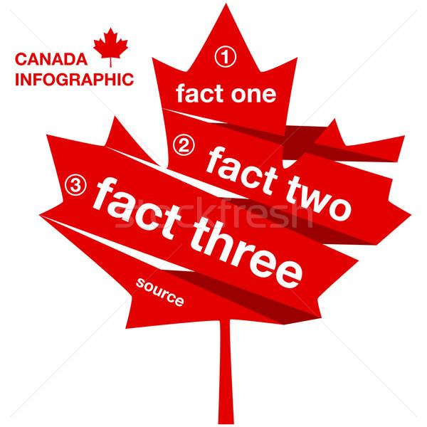 Kanada sablon infografika illusztráció mutat juharlevél Stock fotó © bruno1998