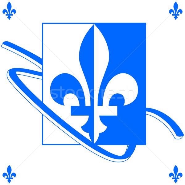 Сток-фото: Квебек · фон · иллюстрация · синий · белый