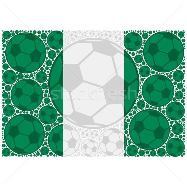 Nigéria futebol ilustração bandeira Foto stock © bruno1998