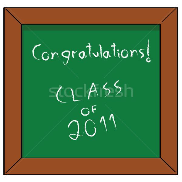 Felicitaciones clase 2011 Cartoon ilustración escuela Foto stock © bruno1998