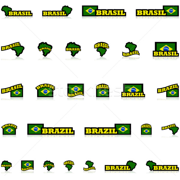 Brazil icons Stock photo © bruno1998