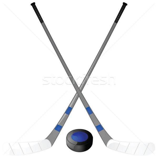 Hockey puck and sticks Stock photo © bruno1998