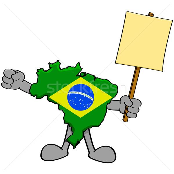 Brezilya protesto örnek harita Stok fotoğraf © bruno1998