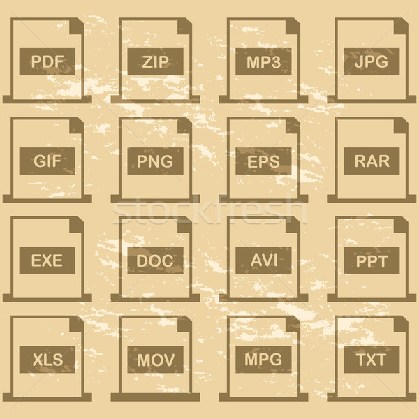 File extensions Stock photo © bruno1998