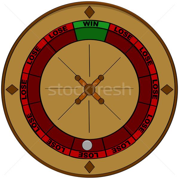 Gioco d'azzardo odds illustrazione roulette vincente Foto d'archivio © bruno1998