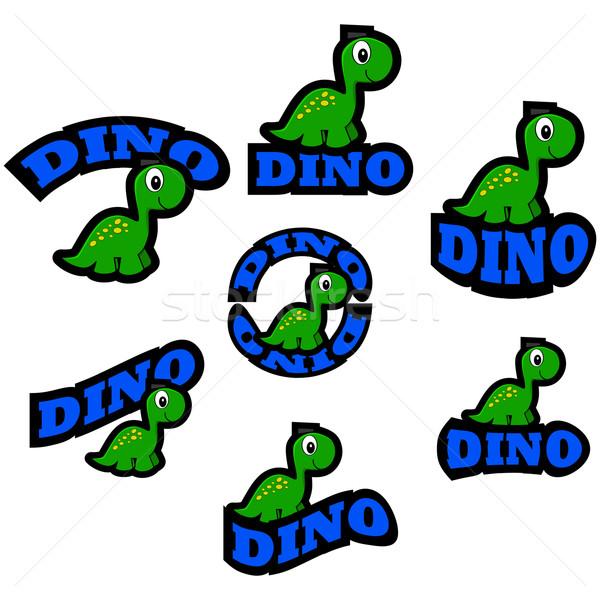 Dinosaur icons Stock photo © bruno1998