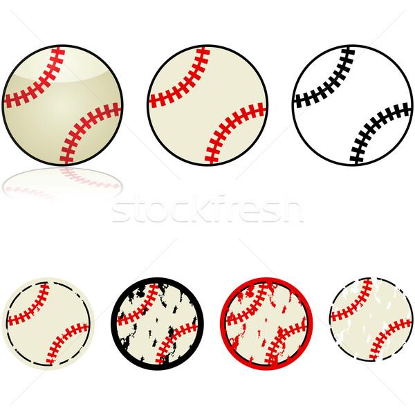 Baseball gyűjtemény illusztráció szett különböző terv Stock fotó © bruno1998