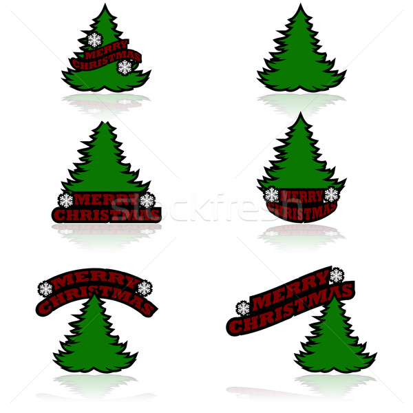 Merry Christmas icons Stock photo © bruno1998