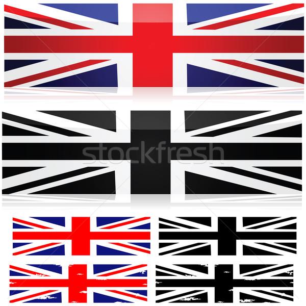 Union jack stijlen vlag verschillend kleur zwart wit Stockfoto © bruno1998
