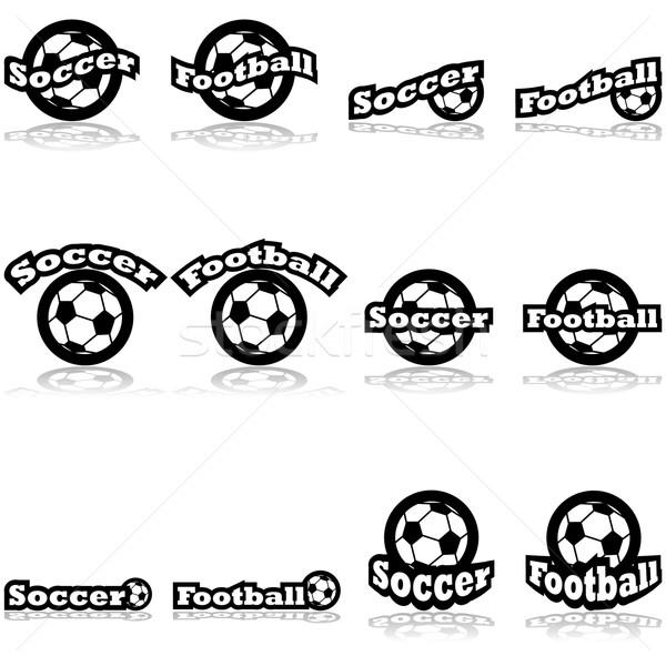 Soccer icons Stock photo © bruno1998