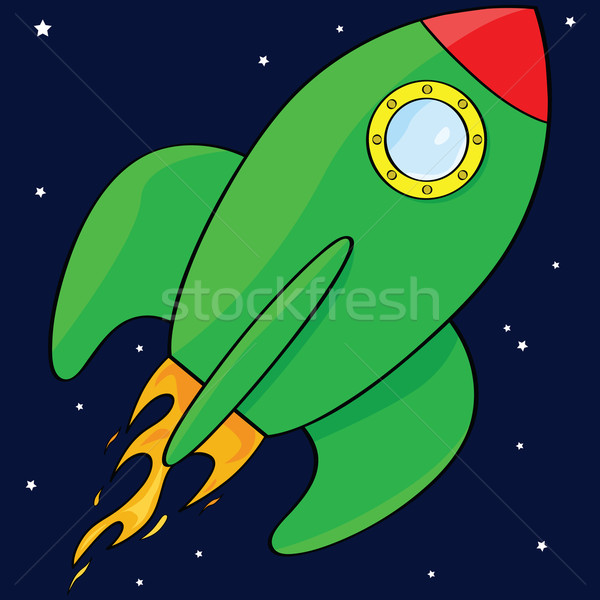 Cartoon rocket ship   Stock photo © bruno1998