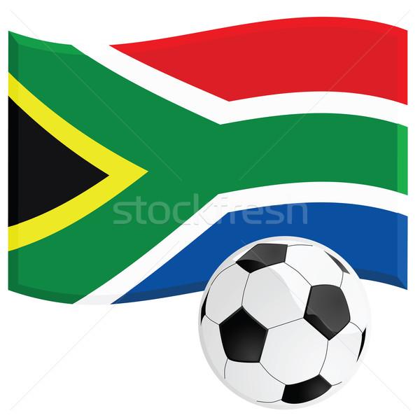 South Africa voetbal illustratie vlag voetbal Stockfoto © bruno1998