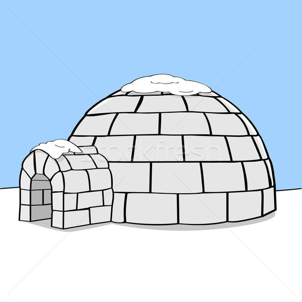 Igloo cartoon illustrazione da nessuna parte neve Foto d'archivio © bruno1998