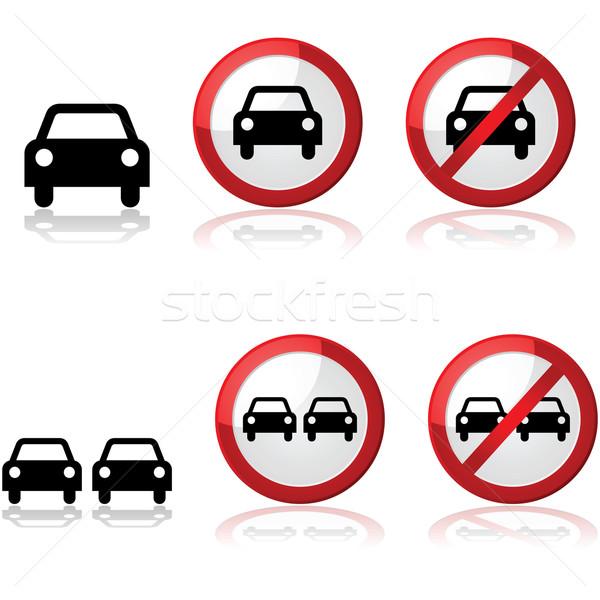 Autó feliratok ikon gyűjtemény mutat forgalom egy Stock fotó © bruno1998
