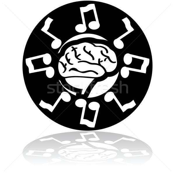 Musical cerebro ilustración notas musicales ciencia Foto stock © bruno1998