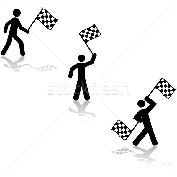 Carrera bandera persona Foto stock © bruno1998