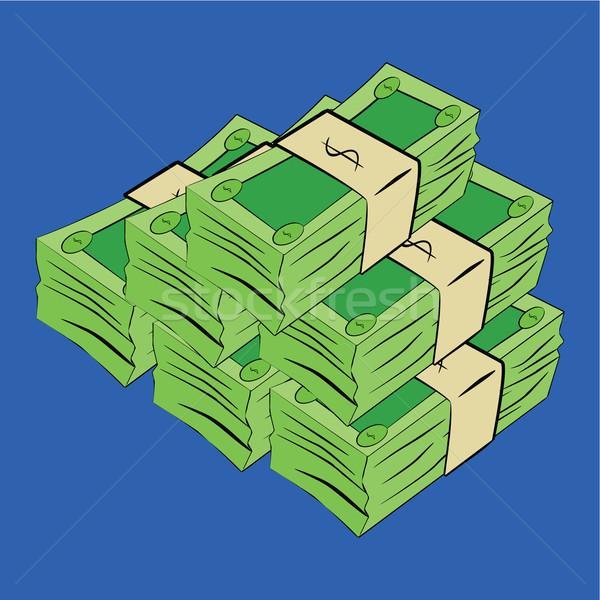 Geld Karikatur Illustration grünen Rechnungen Stock foto © bruno1998
