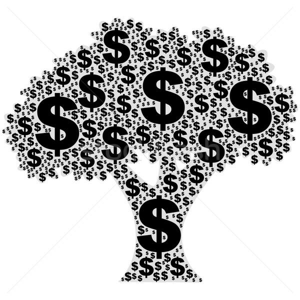 árvore dinheiro ilustração flor Foto stock © bruno1998