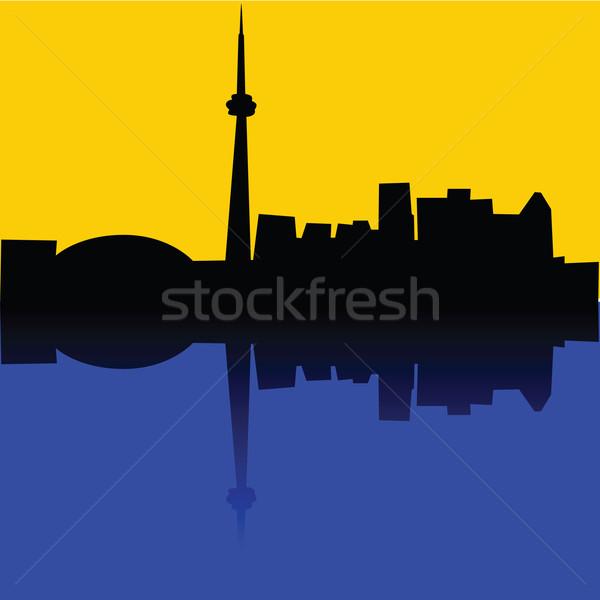 Торонто иллюстрация Skyline Канада город искусства Сток-фото © bruno1998