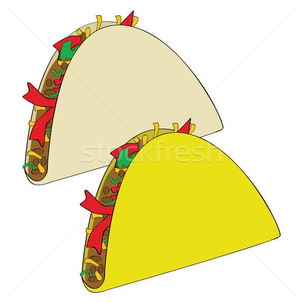 タコス 実例 カップル メキシコ料理 1 トウモロコシ ストックフォト © bruno1998