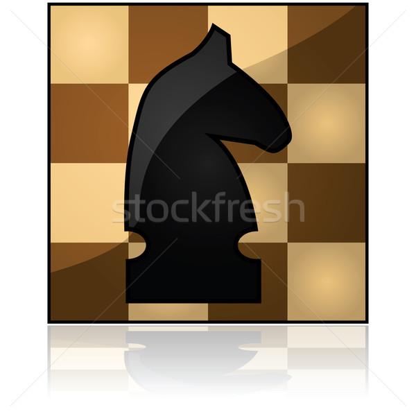 Chess icon Stock photo © bruno1998