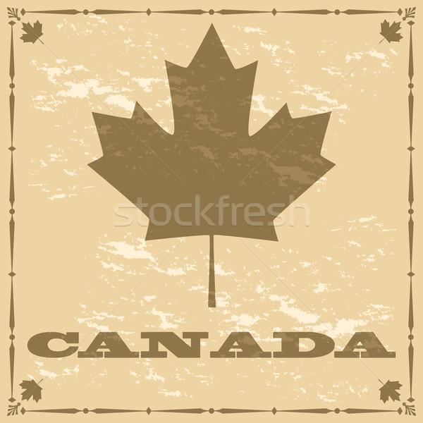 Vecchio stile Canada foglia d'acero illustrazione Foto d'archivio © bruno1998