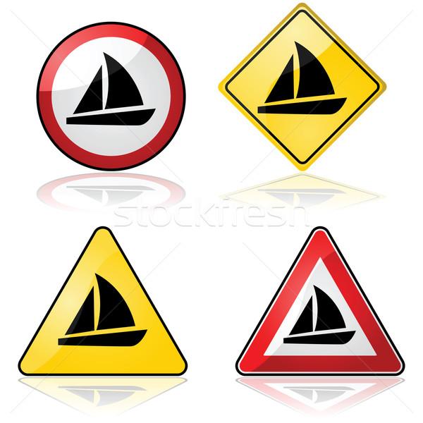 ヨット 標識 異なる トラフィック ストックフォト © bruno1998