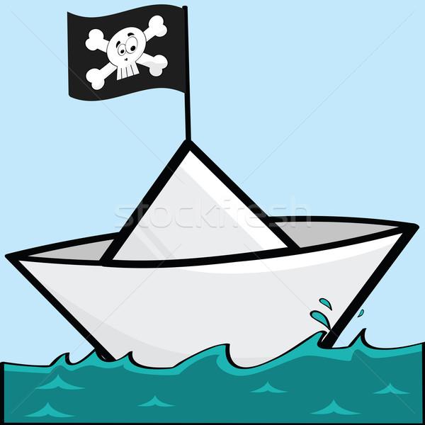 Pirate paper boat Stock photo © bruno1998