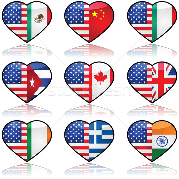 USA divided love Stock photo © bruno1998