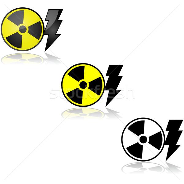 Nucleare energia radioattivo segno Foto d'archivio © bruno1998