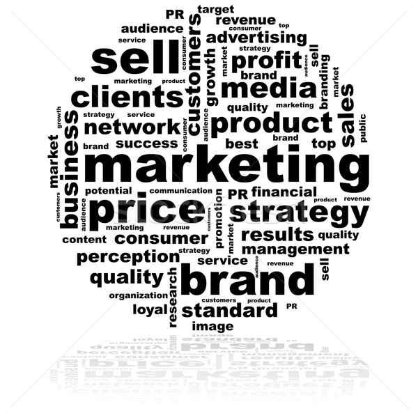Marketing word cloud illustrazione idee abstract Foto d'archivio © bruno1998